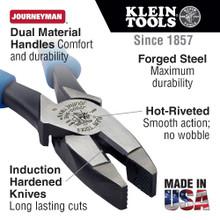 Klein Tools  J2138NE Journeyman™ Side-Cutters, 8-Inch