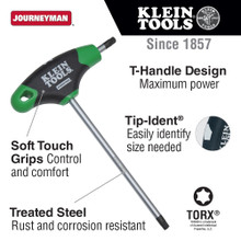 Klein Tools  JTH67T TORX T-Handle Hex Key Set and Stand, 6-Inch, 7-Pc