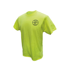 Klein Tools  MBA00040-4 Green HiViz Safety T-Shirt, XXL