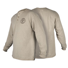 Klein Tools  MBA00127-2 Hanes® Long Sleeve Henley with Lineman Logo, L