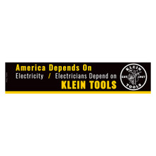 Klein Tools  MBE00116 Bumper Sticker, Electricians Depend on Klein Tools