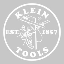 Klein Tools  MBE00131 Hard Hat / Cap Decal, 2.4-Inch, White Lineman Logo