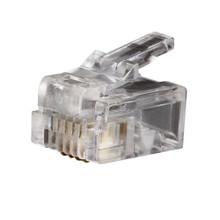 Klein Tools  VDV826-601 Modular Telephone Plugs RJ11 6P4C, 25-Pack