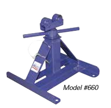 "Current Tools 660 Small Screw Type Reel Stand Capacity - 2,500 lb. each, 28""-56"" Reel Diameter Height - 13"" min. to 27"" max."
