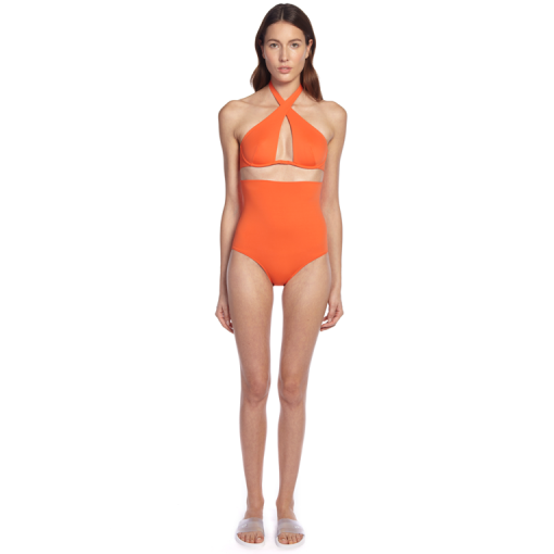 CITRUS WRAP ONE PIECE - FRONT