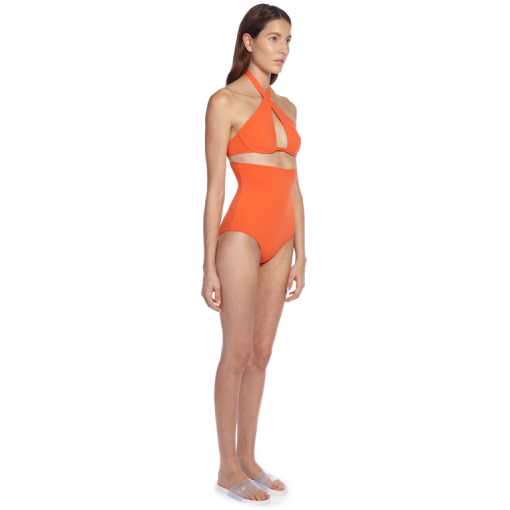 CITRUS WRAP ONE PIECE - SIDE