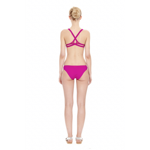 MAGENTA TWIST BACK BIKINI - BACK