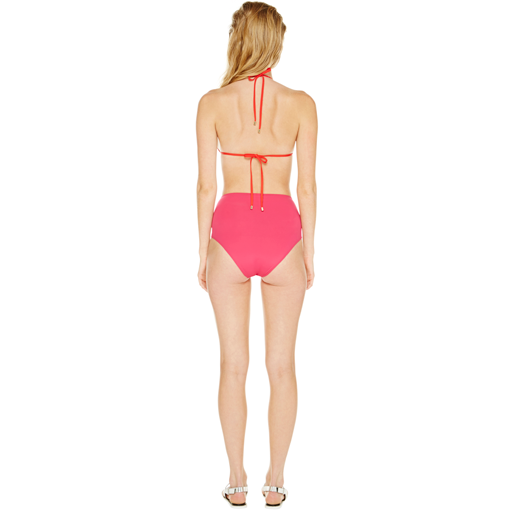 ROUGE TRANSPARENT TRIANGLE WITH FRAMBOISE HIGH WAISTED PANT - BACK