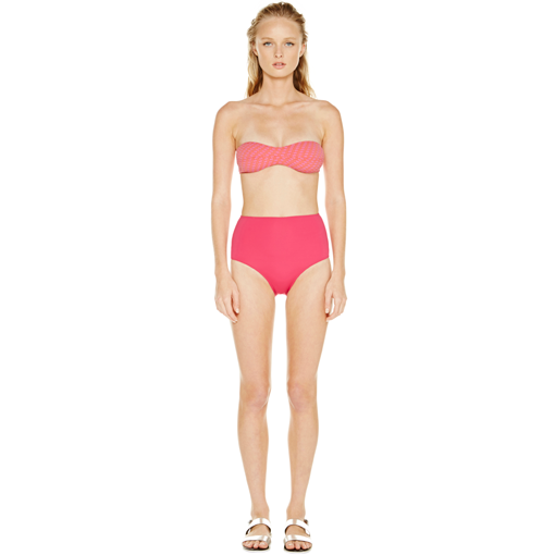 HYDRA CLASSIC BANDEAU WITH FRAMBOISE HIGH WAISTED PANT - FRONT