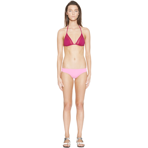 CERISE TRANSPARENT TRIANGLE WITH BONBON CLASSIC PANT - FRONT