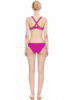 Magenta Twist Back Bikini by Ephemera Swimwear