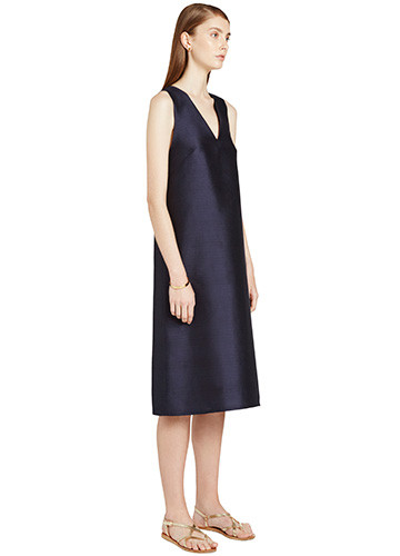 MARINE WOVEN BACK DRESS SIDE