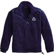 Quarter-Zip Fleece Pullover with Logo, Grades 9-12 (1030)
