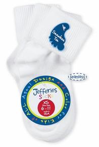 Girls Seamless Toe Sock, 3 Pair Pack