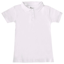 Girls Short Sleeve Fitted Interlock Polo (1029)