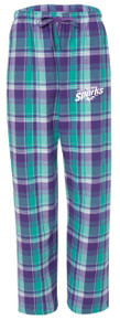Plaid Flannel Pants, Bejeweled (1011)