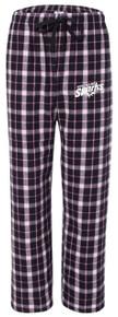 Plaid Flannel Pants, Black/Pink (1011)