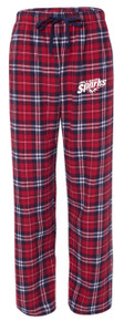 Plaid Flannel Pants, Navy/Red (1011)