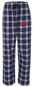 Plaid Flannel Pants, Navy (1011)