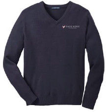 VNeck Pullover Sweater with Logo, Staff Wear (1007)