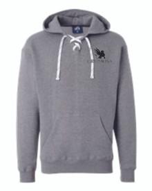 Sport Laces Hooded Sweatshirt with Logo, Spirit Wear (1007)