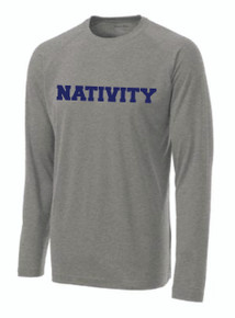 PosiCharge T-Shirt Long Sleeve with Logo, Spirit Wear (1013)