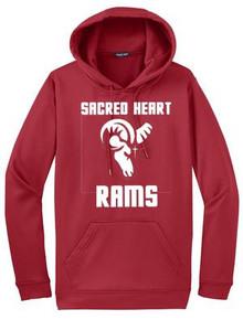 Sport Wick Hooded Sweatshirt with Logo, Spirit Wear (1040)