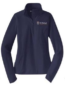 Ladies Sport Wick 1/4 Zip Pullover with Logo, (1045)