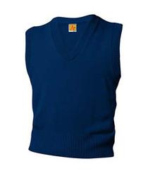 V-Neck Sweater Vest with Logo (1001) K-5