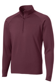 Ladies Quarter-Zip Sport-Wick Pullover with Logo, (1001)