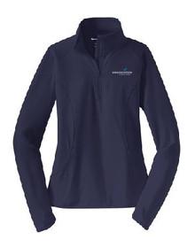 Ladies Half Zip Sport-Wick Pullover with Logo, (1002)