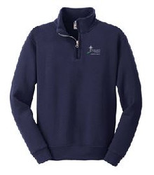 1/4 Zip Sweatshirt with Logo (1017)
