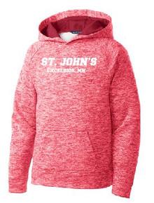 Sport Wick Hoodie Youth with Logo, Spirit Wear (1041)