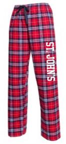 Plaid Flannel Pants with Logo, Spirit Wear (1041)