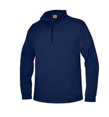 Quarter-Zip Sport-Wick Fleece Sweatshirt with Logo (1048)