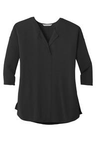 Soft Split Neck 3/4 Sleeve Top  (2013)