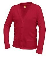 V-Neck Cardigan Sweater with Logo (1003) K - 5