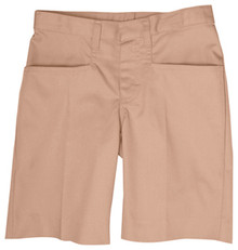 Girls Flat Front Shorts (1003) 6 - 8