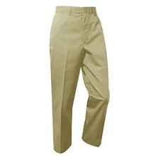 Boys Flat Front Pants, Husky (1003) 6 - 8