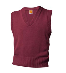 V-Neck Sweater Vest with Logo (1001) Gr 6-8