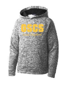 PosiCharge Heather Hooded Sweatshirt Youth Spirit Wear (1009)