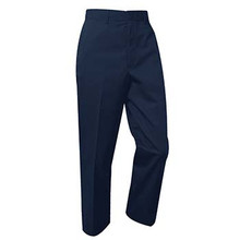 Boys Flat Front Pants, Brushed Twill, Regular and Slim Fit
