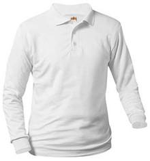 Polo Long Sleeve Jersey Knit, Grades 1-4 (1004)