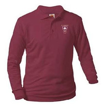 Polo Long Sleeve Banded Bottom with Logo (1027)