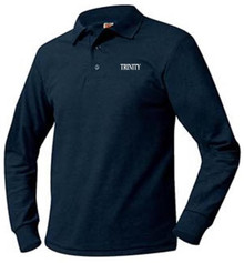 Boys Polo Long Sleeve Pique Knit, Grades 6-8 (1030)