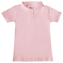 Girls Short Sleeve Fitted Interlock Polo, Grades K-5 (1007)