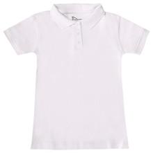 Girls Short Sleeve Fitted Interlock Polo, Grades 1-4 (1004)