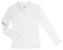 Girls Long Sleeve Fitted Interlock Polo (1002)