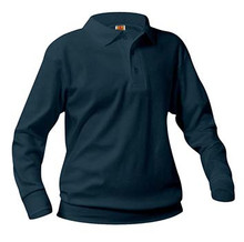 Polo Long Sleeve Banded Bottom, Grades 6-8 (1019)