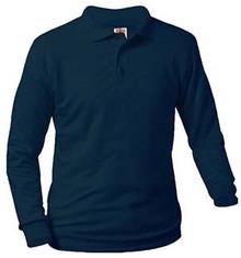 Polo Long Sleeve Jersey Knit, Grades 9-12 (1019)
